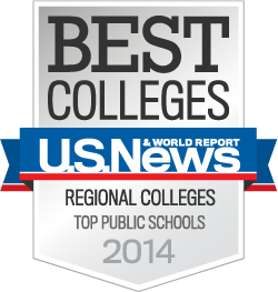 U.S. News America�s Best Colleges Regional, Top Public Schools for 2014 badge