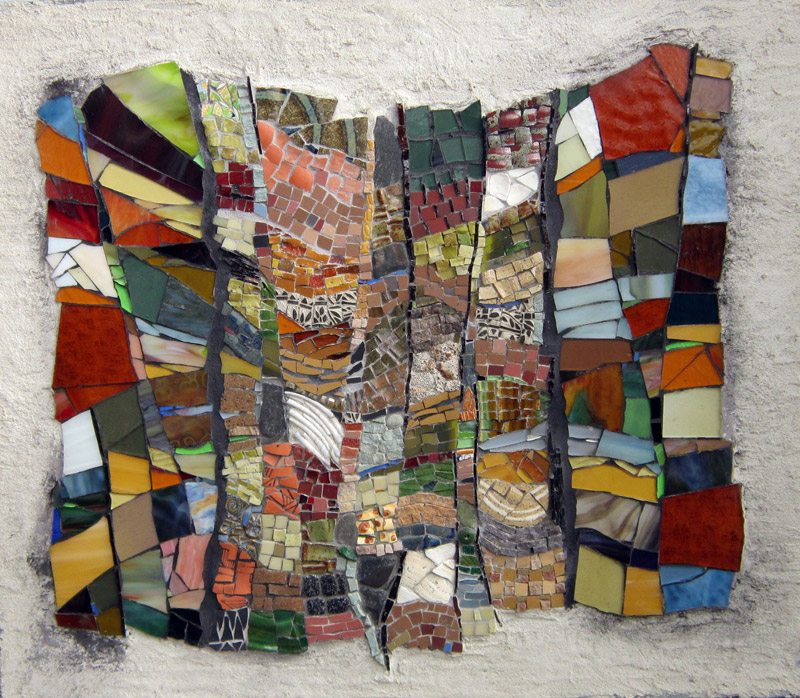 Cynthia Fisher, Textures, Fall, 2012, mixed media, 25