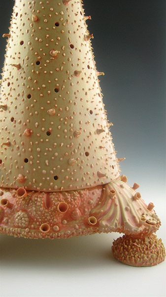 detail, 2012, slip-cast and handbuilt porcelain, glaze, 17