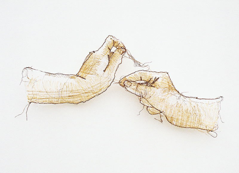 Hands, 2007, thread, 15