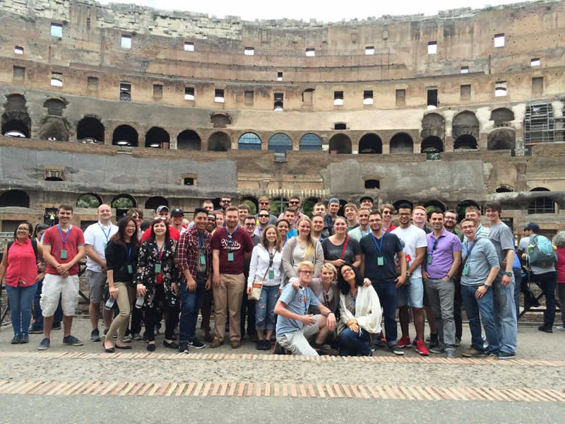 Penn College Students On Short Term Study Abroad Experience At The  Colosseum In Rome, ...