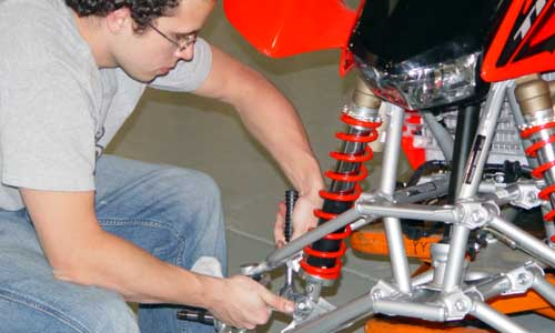 We remove the OEM suspension to test our new parts.
