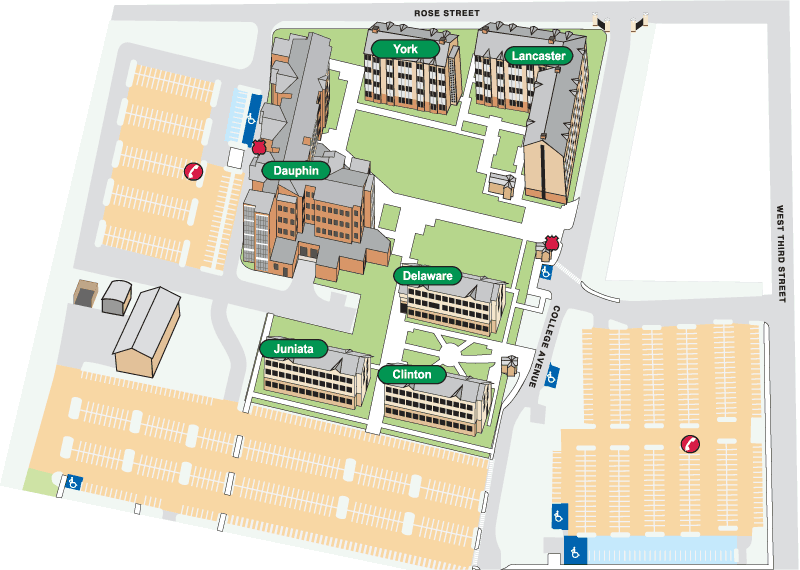 Juniata Campus Map.Rose Street Commons Pennsylvania College Of Technology