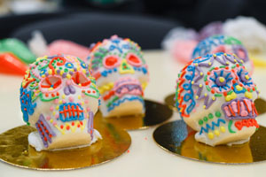 Sugar Skulls Decorated for Dia de los Muertos
