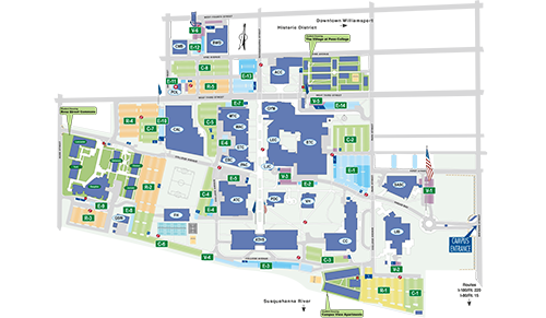 Penn College campus map