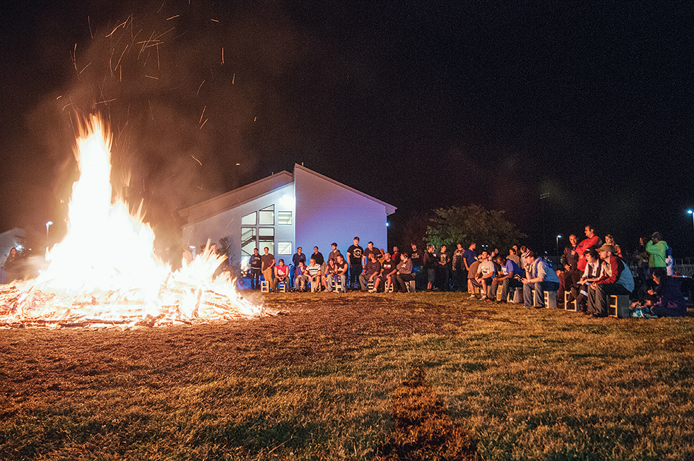 Homecoming bonfire. Photo by Dalaney T. Vartenisian.