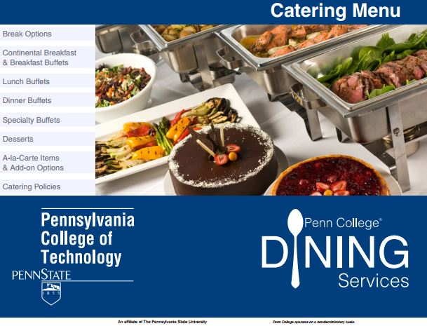 Dining Services Catering Menu