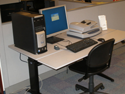 Assistive Technology station in the Reference area.