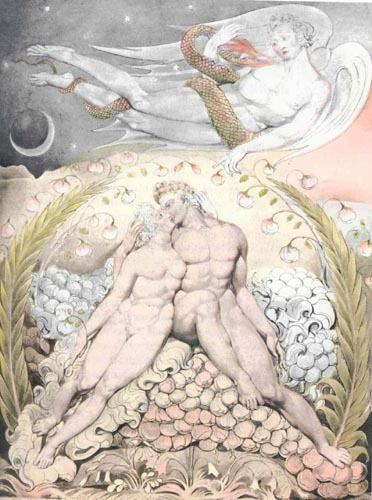 "Paradise Lost by John Milton, ""Satan with Adam and Eve (Book IV)"""