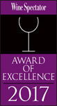 Wine Spectator, Award of Excellence 2017