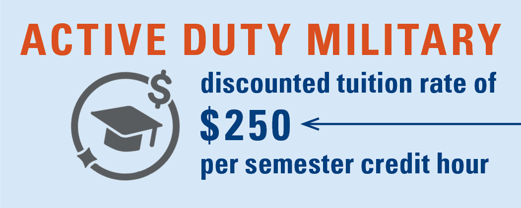 Military Tuition Discount Graphic