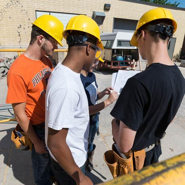 building construction students